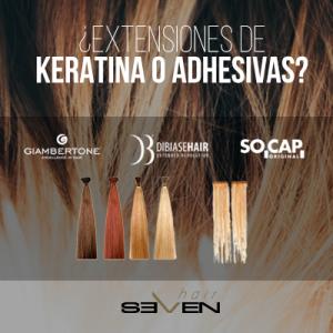 extensiones de keratina o adhesivas